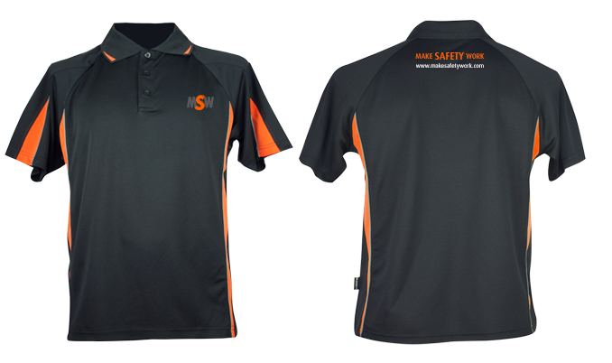 Launching make safety work msw polo shirts lets design it for Design a work shirt